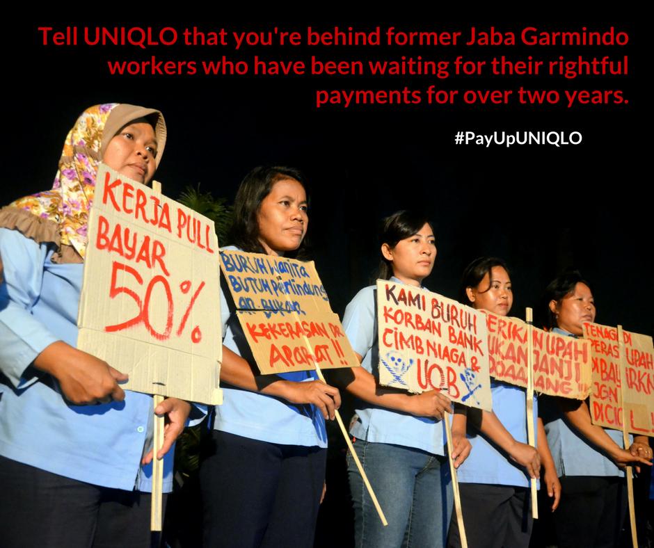 Treballadores reclamen salaris a UNIQLO